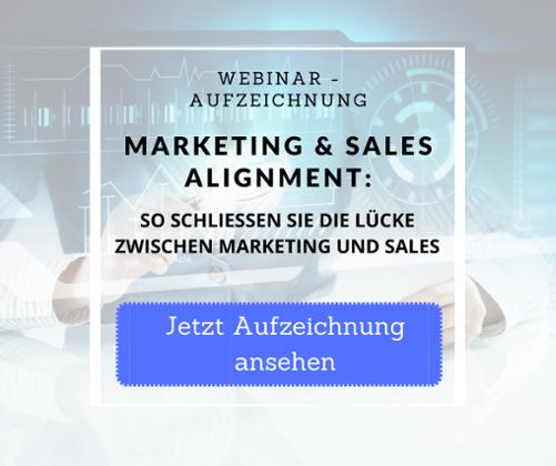 Webinaraufzeichnung Marketing Sales Alignment