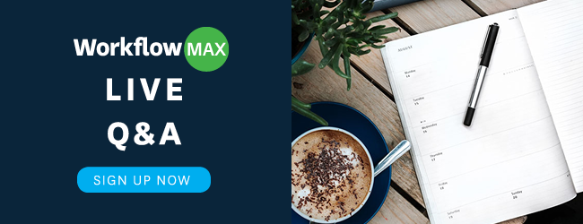 WorkflowMax Live Webinar