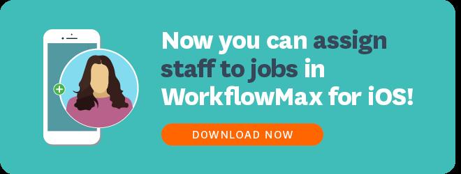 WorkflowMax iOS Assign Staff To Jobs