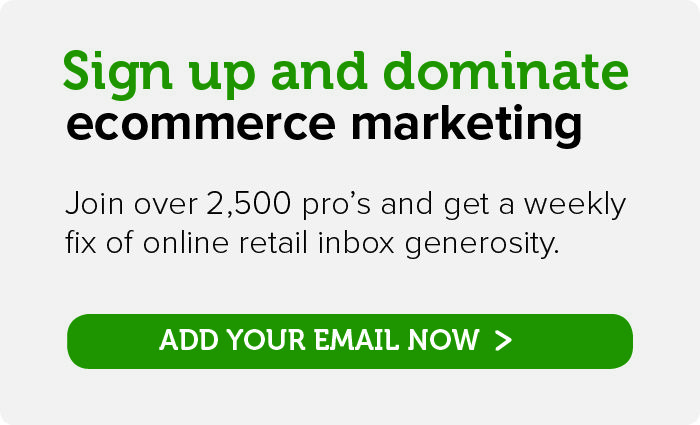 Subscribe for ecommerce marketing wisdom straight to your inbox
