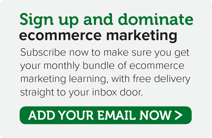 Subscribe now for your monthly ecommerce marketing learning
