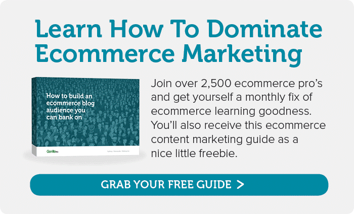Subscribe for a monthly burst of ecommerce marketing learning
