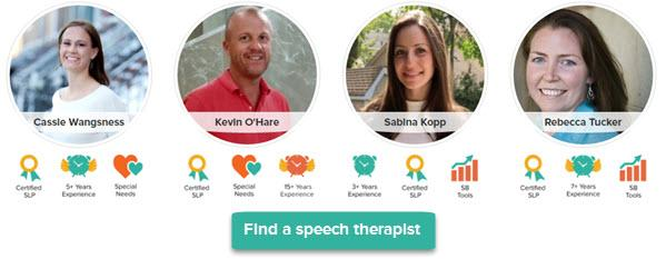 Find a speech therapist