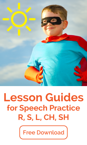 Free Lesson Guides for Speech Practice: R, S, L, SH, CH