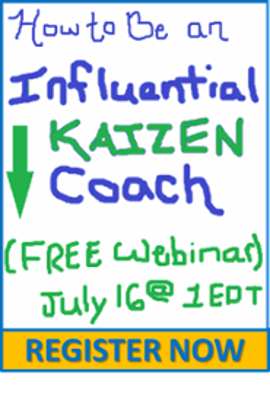 Register Now: How to be an Influential Kaizen Coach