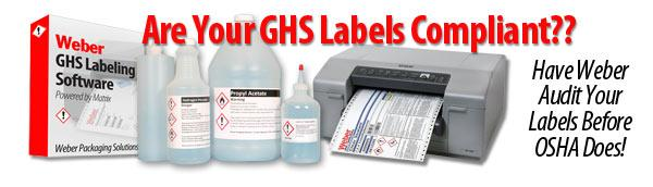 Get a free GHS label audit from Weber