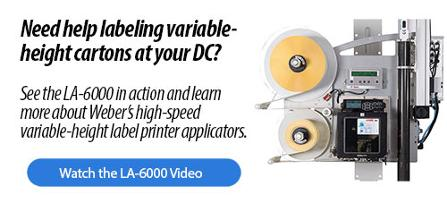 Watch the LA-6000 label printer applicator video