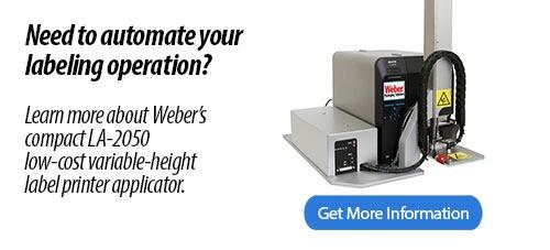 Weber LA-2050 Label Printer Applicator