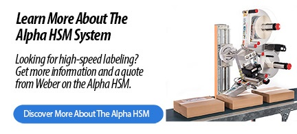 Alpha HSM high-speed label applicator