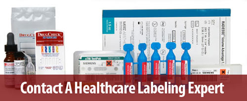 contact a healthcare labeling expert