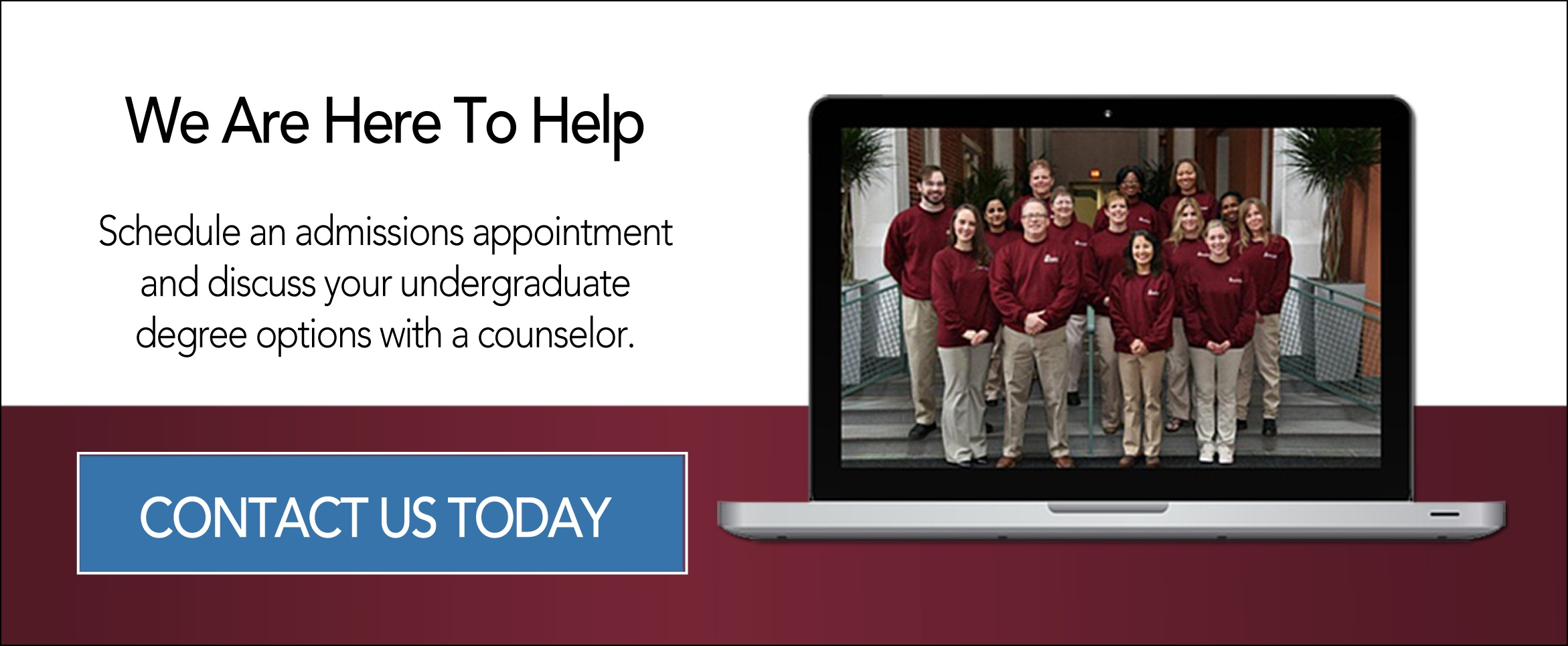 Contact Undergraduate Admissions Today