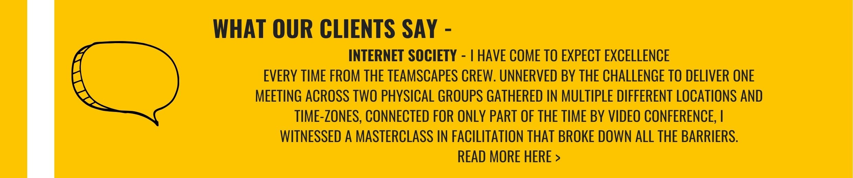 Teamscapes Internet Society Testimonial