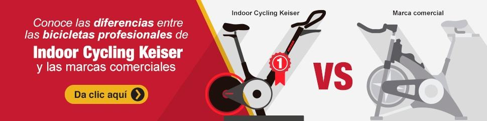 Conoce las diferencias entre las bicicletas profesionales de Indoor Cycling Keiser y las marcas comerciales