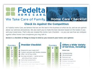 Home Care Checklist thumbnail