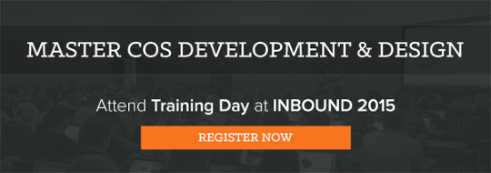 COS design training at INBOUND 2015