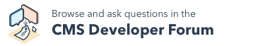 Ask questions in the CMS Developer Forum