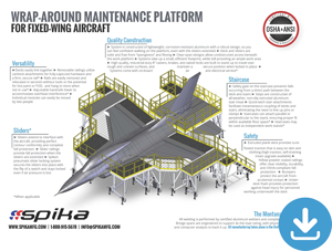 Download Brochure: Wrap-Around Maintenance Platform for Fixed-Wing Aircraft