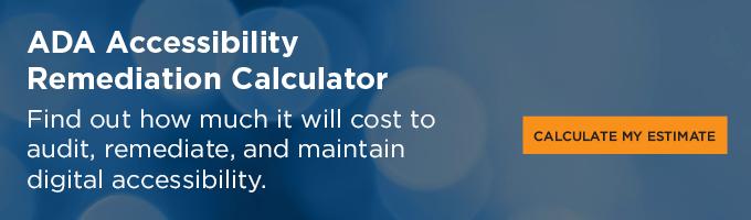 ADA Accessibility Remediation Calculator