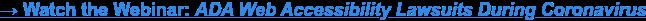 → Watch the Webinar: ADA Web Accessibility Lawsuits During Coronavirus