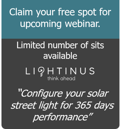 CTA - webinar about how to make your solar street light 365 days reliable