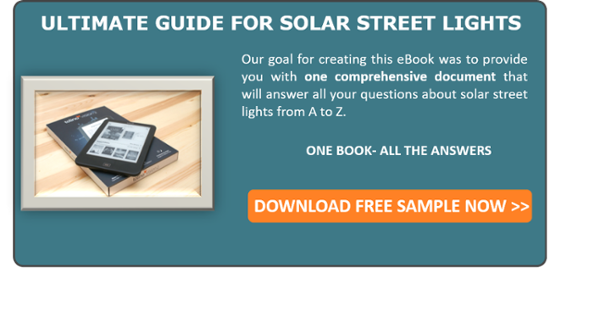 CTA for Ebook: Ultimate guide for solar street lights