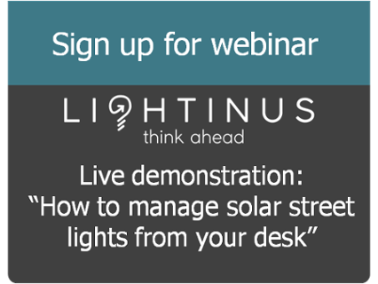 How to manage solar street lights from your desk