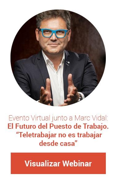 Evento Virtual junto a Marc Vidal: El Futuro del Puesto de Trabajo.