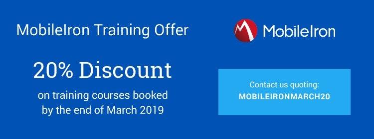 mobileiron, training, mobileiron training, offer