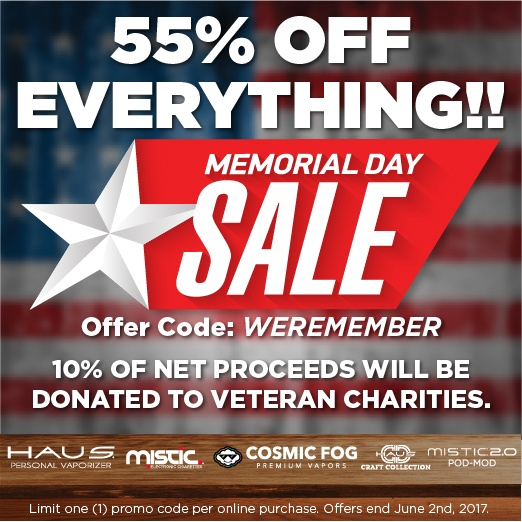Get 55% off your order during our Memorial Day Sale
