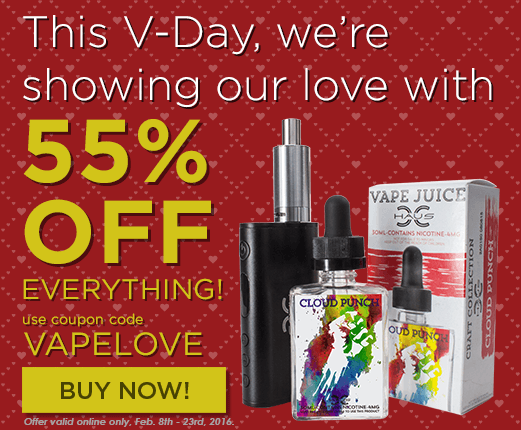 This V-Day we're showing our love with 55% OFF Everything!