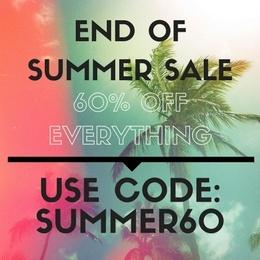 End of Summer Sale - get 60% your order