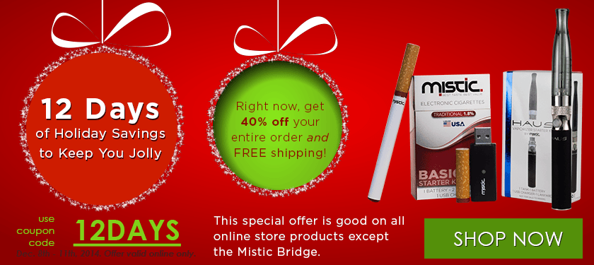 Mistic electronic cigarette coupons