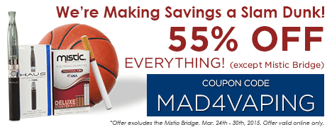 We're making a SLAM DUNK in savings! Get 55% off everything in the store except the Mistic Bridge.