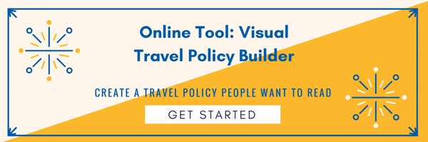 Visual travel policy builder