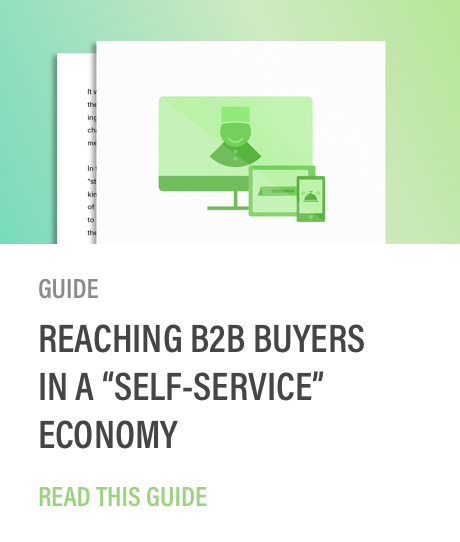 Golden spiral reaching b2b buyers in self service economy guide