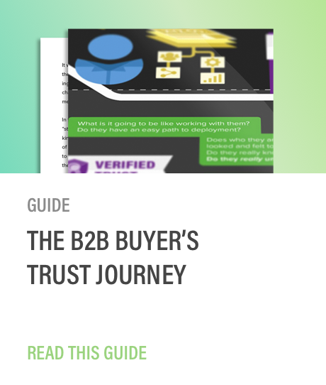 Golden spiral B2B buyer's trust journey guide