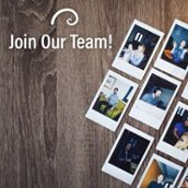 join our team golden spiral marketing candid polaroid wood grain