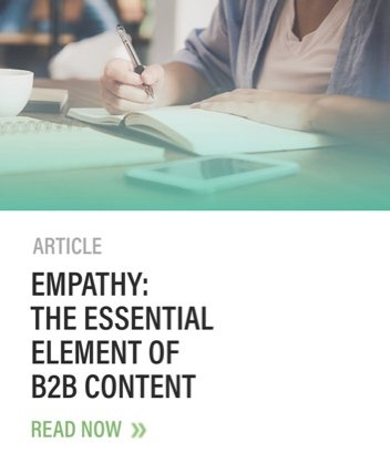 Call to Action for Blog Article Empathy The Essential Element of B2B Content Golden Sprial