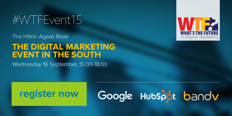 Register for What's the Future in digital marketing
