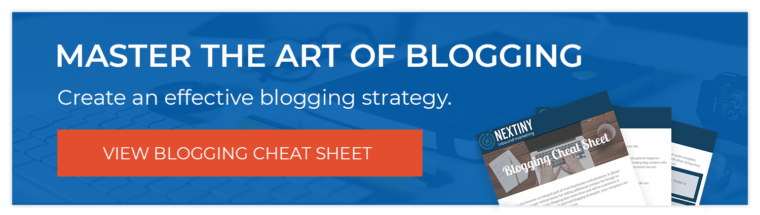 Blogging Cheat Sheet