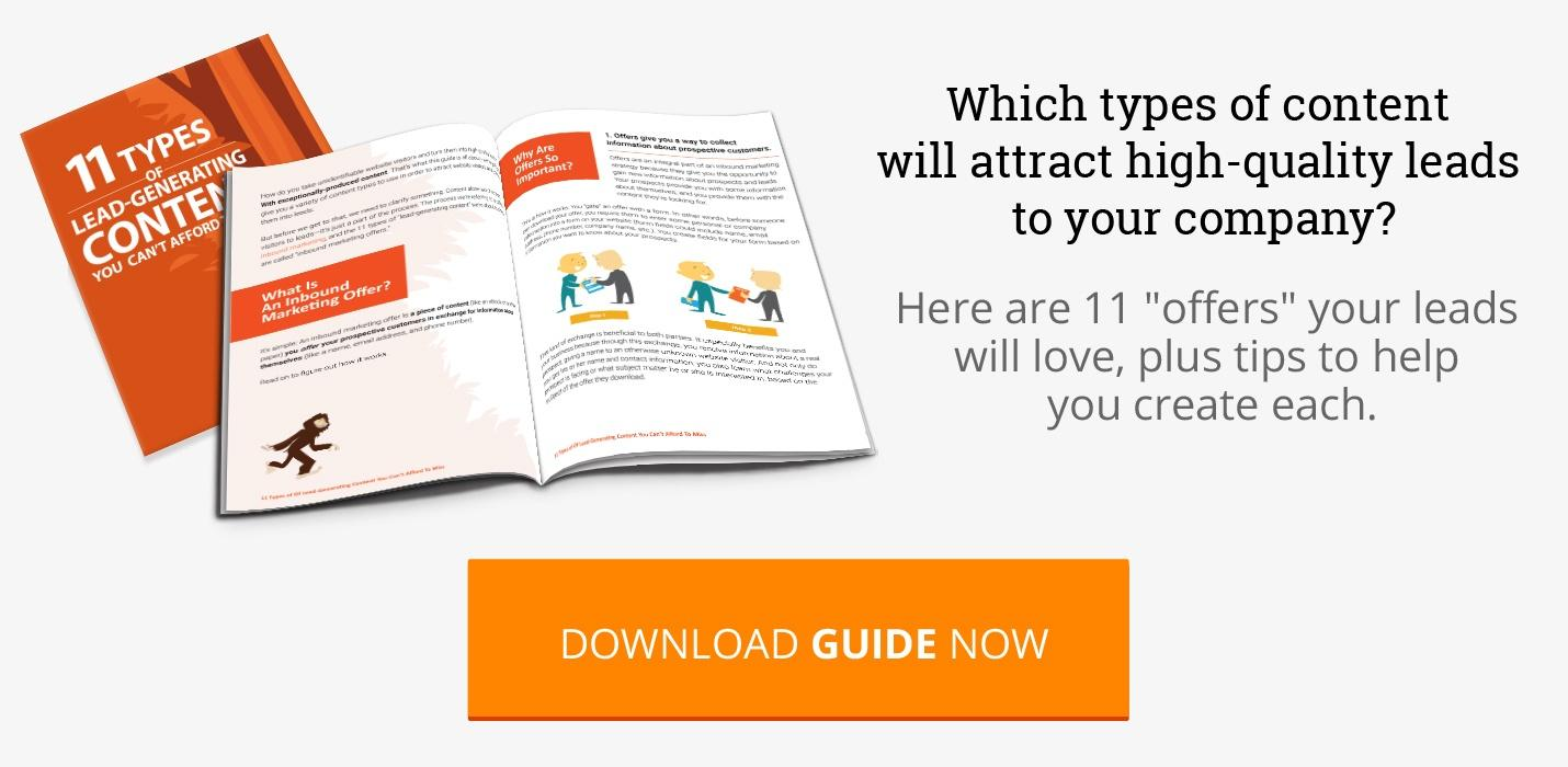 Download: 11 Types Of Lead-Generating Content You Can't Afford To Miss