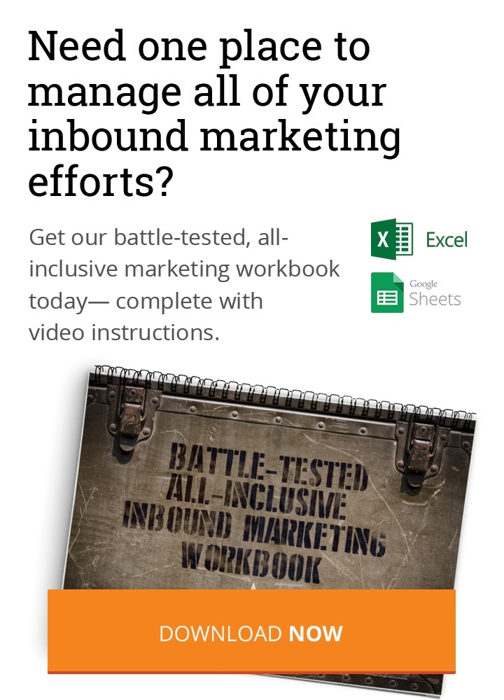 Download Our Inbound Marketing Workbook