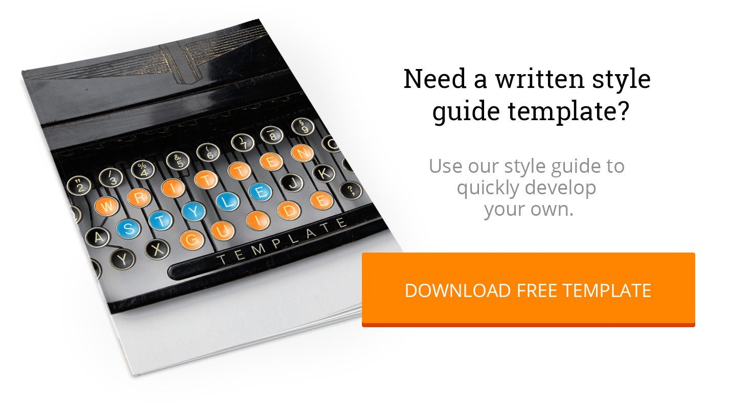 Purchase Written Style Guide Template