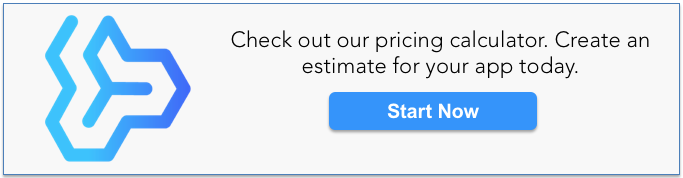Mobile app development pricing calculator