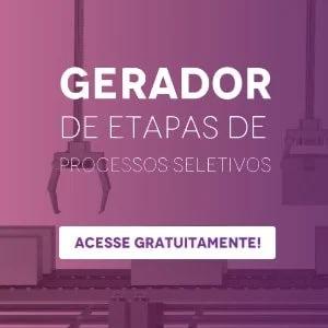 """Banner do gerador de etapas de processos seletivos, com um botão escrito """"acesse gratuitamente"""""""