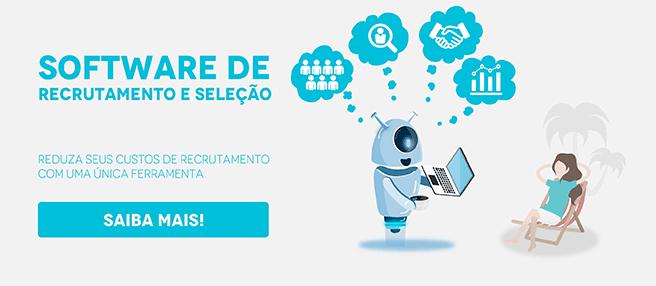 """Imagem da Gaia representando a Gupy e, ao lado, está escrito """"Software de recrutamento e seleção: reduza seus custos de recrutamento com uma única ferramenta"""", com um botão escrito """"saiba mais"""""""