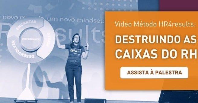 """Banner da palestra """"Vídeo Método HR4results: destruindo as caixas do RH"""", com um botão escrito """"assista à palestra"""""""