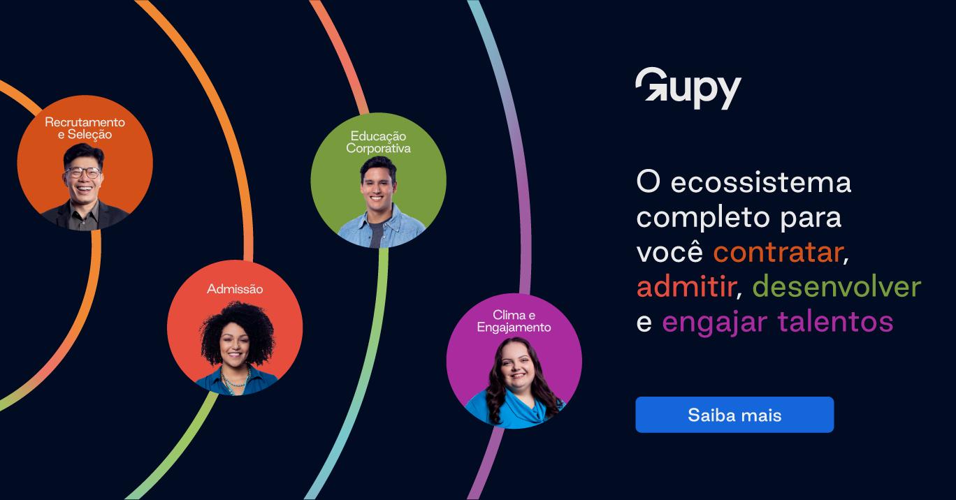 Recrutamento e Seleção ágil, justo e encantador com a Gupy. Agende uma demonstração.