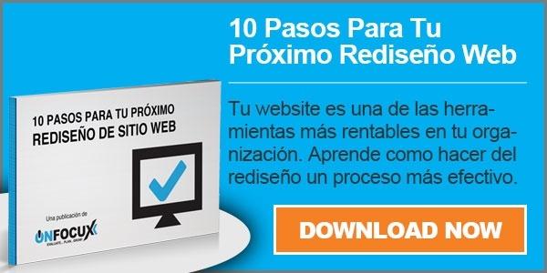 Ebook - 10 Pasos Para tu Proximo Rediseno de Sitio Web - Download