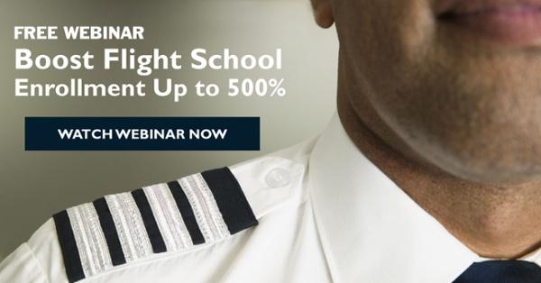 Free Webinar - Boost Flight School Enrollment Up to 500